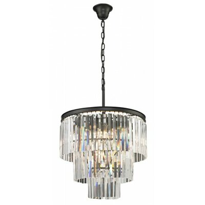 1920 9-Light Crystal Chandelier