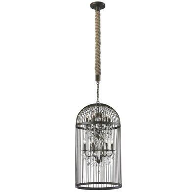 Vintage Birdcage 12-Light Foyer Pendant Size: 35 H x 21 W x 21 D