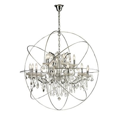Sphere 18-Light Candle-Style Chandelier Finish: Chrome