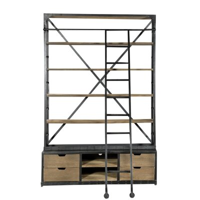 DoubleHutch Style 93 Bookcase with Ladder Product Image 512