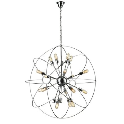 Galaxy 12-Light Foyer Pendant Size: 43 H x 41 W x 41 D, Finish: Chrome