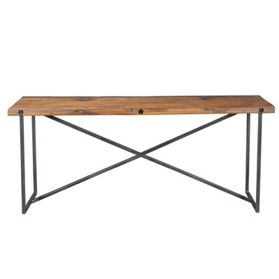 Console Table Base Finish: Black