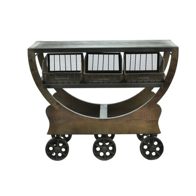 Industrial Trolley Console Table
