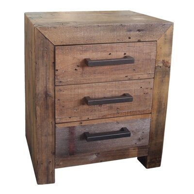 Terra Nova 3 Drawer Nightstand