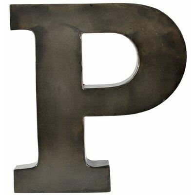Metal Letter Blocks Letter: P