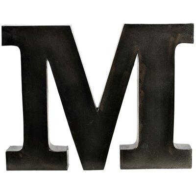 Metal Letter Blocks Letter: M