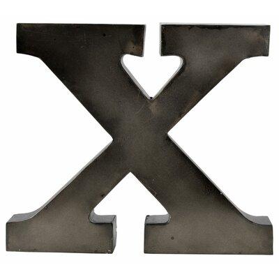 Metal Letter Blocks Letter: X