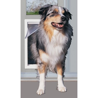 10-1/2 X 15 XL White Modular Pet Patio Door Color: Mill