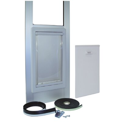 Modular Vinyl Patio Door Size: Medium (76.75-78.5 H x 14 W x 2.5 L)