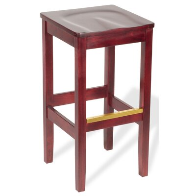 Bulldog 44.25 Bar Stool Upholstery: All Wood