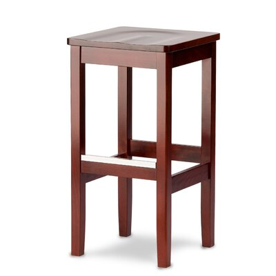 Bulldog 27 Bar Stool Kickplate Finish: Brass, Finish: Walnut