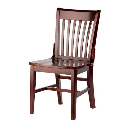 Henry Side Chair Finish: Heritage Walnut, Kickplate Finish: Brass