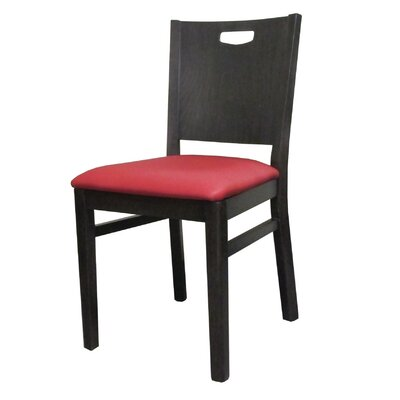 Soho Side Chair with Cushion Upholstery: Sherpa Cardinal