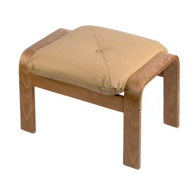 Natural Finish Leather Ottoman Leather: Mocha