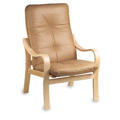 Omega Natural Leather Chair Leather: Cranberry