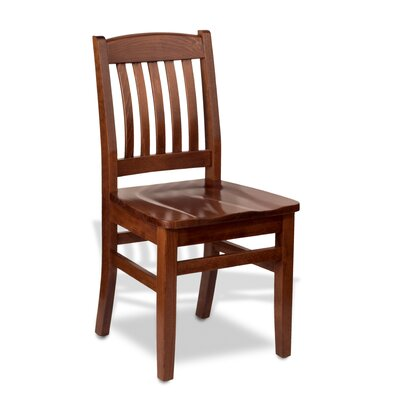 Bulldog Side Chair Finish: Mahogany, Kickplate Finish: Black