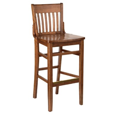 Henry Bar Stool Height: 28, Kickplate: None