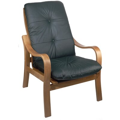 Omega Oak Leather Chair Leather: Cranberry