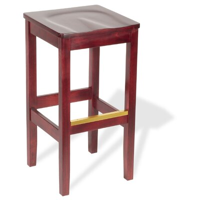 Bulldog 24 Bar Stool Upholstery: Rust Vinyl