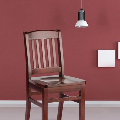 Bulldog Solid Wood Dining Chair Finish: Shocking Red
