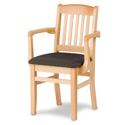 Bulldog Arm Chair Finish: Walnut, Kickplate Finish: Brass