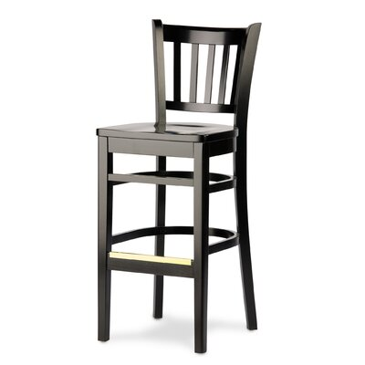 Grill 27 Bar Stool Finish: Natural, Kickplate Finish: Chrome