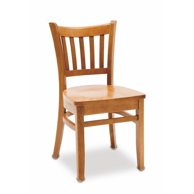 Grill Solid Wood Dining Chair Finish: Mahogany
