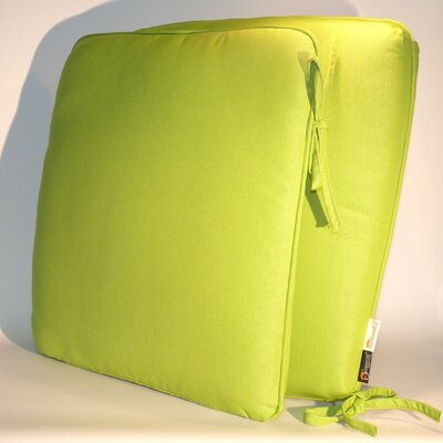 ComfortCare Outdoor Sunbrella Dining Chair Cushion Fabric: Parrot Green