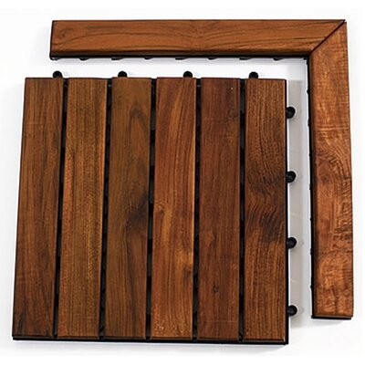 Le Click Teak Corner Pieces with Pin in Oiled Finish