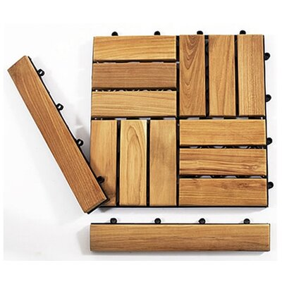 Le Click Teak 1.5 x 1 End Pieces Interlocking in Natural