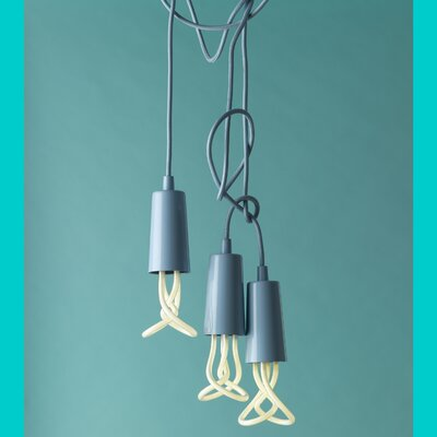 Plumen 1 Light Mini Pendant Finish: Pastel Blue