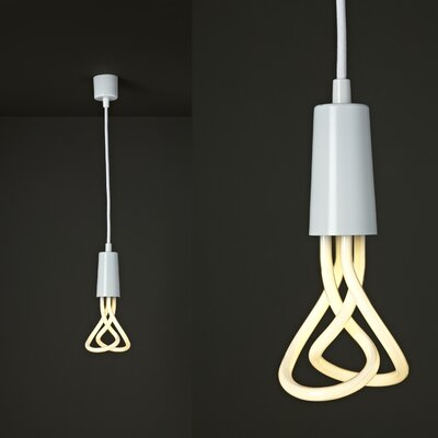 Plumen 1-Light Exposed Mini Pendant Finish: White