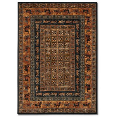 Old World Classics Pazryk Burnished Rust Area Rug Rug Size: 4'6