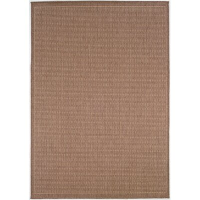 Westlund Saddle Stitch Cocoa Indoor/Outdoor Area Rug Rug Size: Rectangle 53 x 76