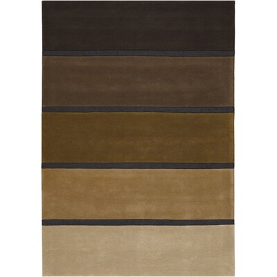 Super Indo-colors Hand-woven Wool Black/brown Area Rug Rug Size: Rectangle 9
