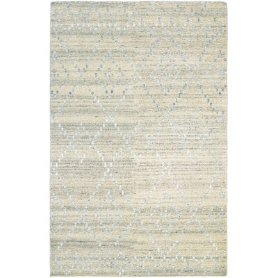 Casbah Sikar Hand-Knotted Natural/Ivory Area Rug Rug Size: 5'6