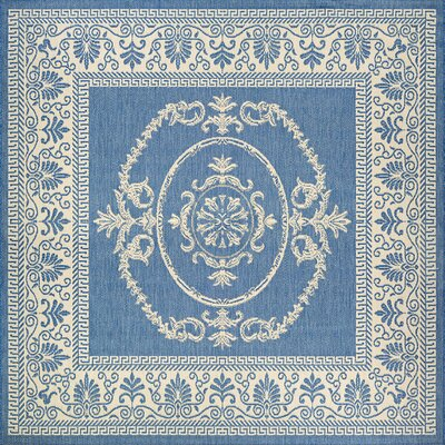 Miley Blue Indoor/Outdoor Area Rug Rug Size: Square 76