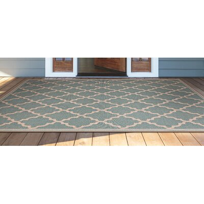 Cardwell Ocean Port Light Turquoise Indoor/Outdoor Area Rug Rug Size: Rectangle 53 x 76