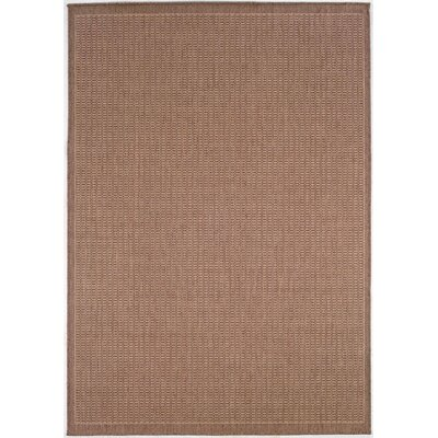 Westlund Saddle Stitch Cocoa Indoor/Outdoor Area Rug Rug Size: 39 x 55
