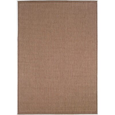 Westlund Saddle Stitch Cocoa Indoor/Outdoor Area Rug Rug Size: Runner 23 x 710