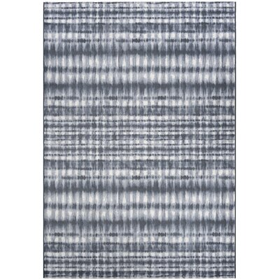 Aquinnah Woven Gray/Ivory Area Rug Rug Size: Rectangle 92 x 129