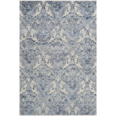 Amethyst Woven Blue/Gray Area Rug Rug Size: Rectangle 5'3