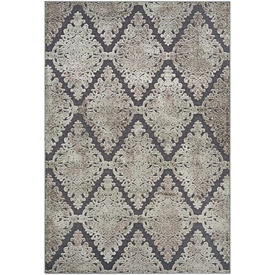 McNamara Woven Gray Area Rug Rug Size: Rectangle 53 x 76
