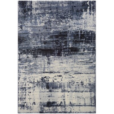 Andover Abstract Mosaic Slate Area Rug Rug Size: 53 x 76