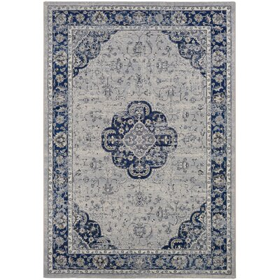 Johnston Medallion Indigo Area Rug Rug Size: 311 x 53