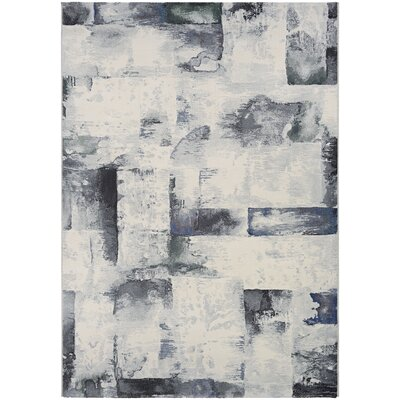 Andover Woven Gray Area Rug Rug Size: Rectangle 92 x 125