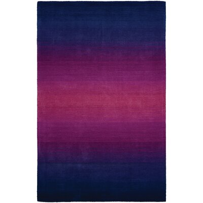 Beirut Wool Blue/Purple Area Rug Rug Size: Rectangle 56 x 8