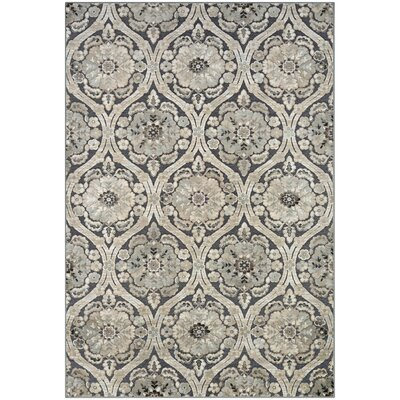 Amethyst Smoke/Antique Cream Area Rug Rug Size: 53 x 76