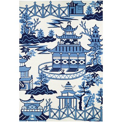 Inabinet Hand Hooked Blue Indoor/Outdoor Area Rug Rug Size: Rectangle 8 x 11
