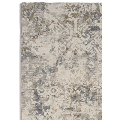 Andover Antique Lace Flax Area Rug Rug Size: 53 x 76
